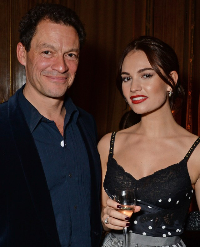Dominic West and Lily James are playing father and daughter