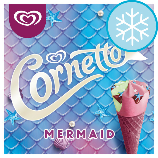Save a cool 50p on this pack of Mermaid Cornettos