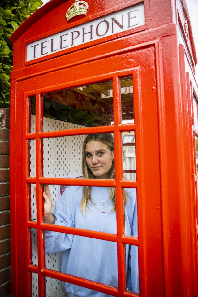 Emily Kinnaird, 16, is one of the teens fighting for a Black Lives Matter display to be put in the disconnected phone box