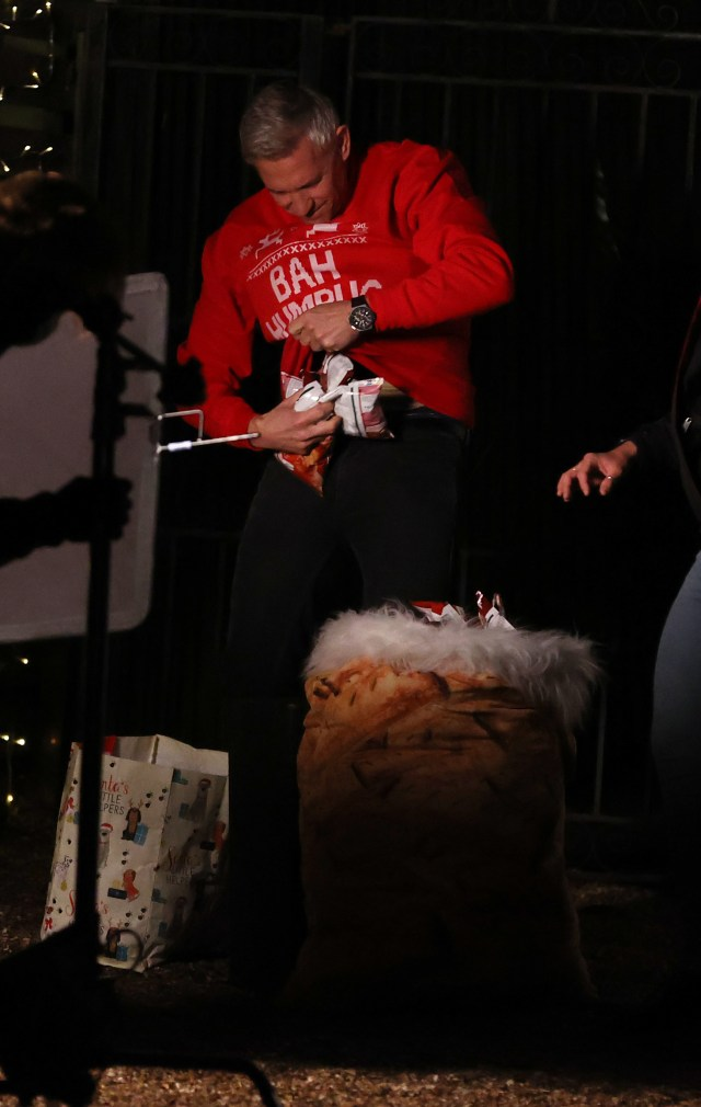 The TV host sported a Christmas jumper for the advert