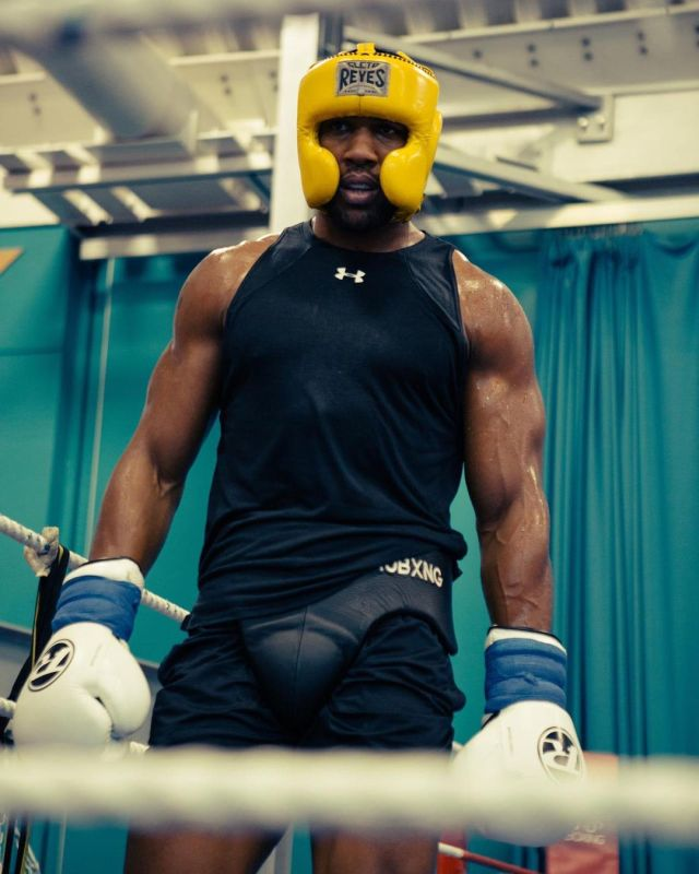 Joshua is now in training for his December showdown with Pulev