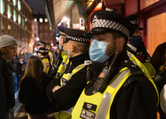 London's Soho district was also heaving last night - as the capital prepared to head into tier two restrictions at midnight
