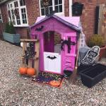 Mum turns daughter's playhouse into an epic haunted house using Poundland and Home Bargain finds