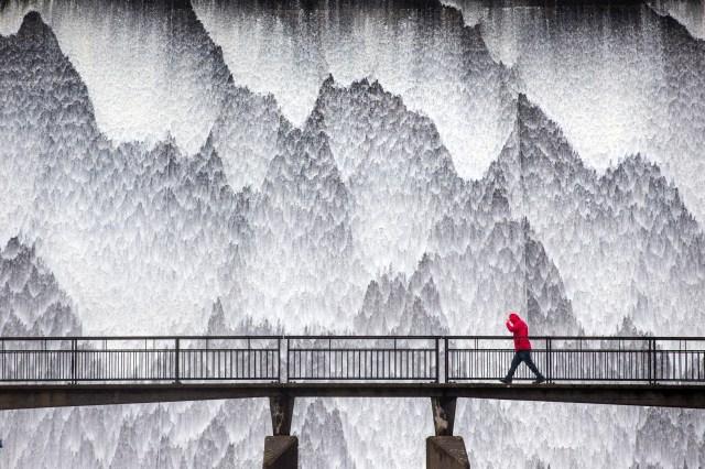 Kaleidoscope ripples of water captured by Andrew McCaren, 45, was taken in Wet Sleddale Dam, Shap, Cumbria