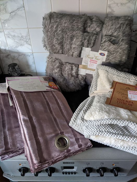Woman bags £73 worth of B&M bargains for just £20 including throws and curtains