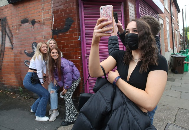 People have flocked to see Banksy's latest piece