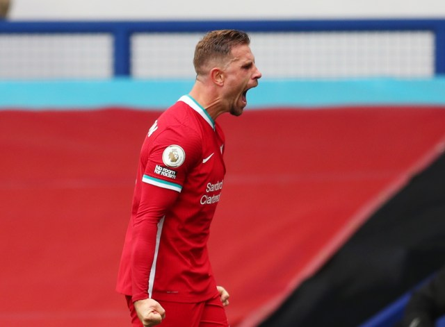 Henderson's joy quickly turned to bemusement as VAR intervened with his winning goal