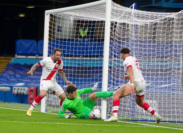 Kepa got himself into a mess for Southampton's equaliser and Adams thumped the ball home