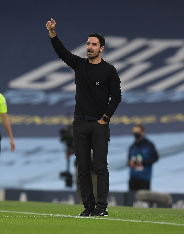 Mikel Arteta's side lost 1-0 to Manchester City at the Etihad on Saturday