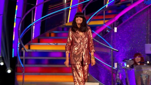Claudia Winkleman beamed as she stepped out for the pre-recorded show