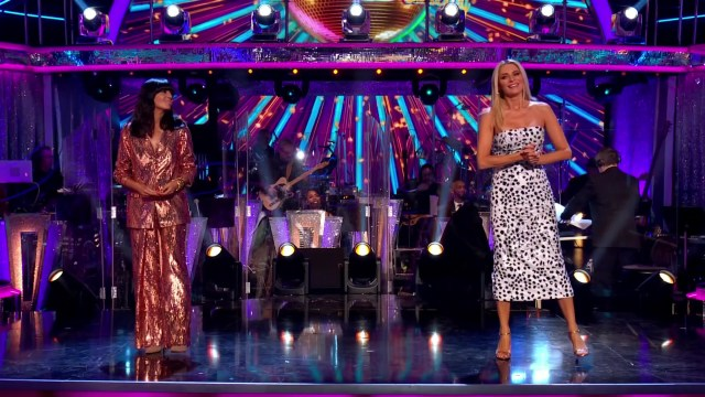 She returned to the telly alongside Tess Daly to host the new series of Strictly