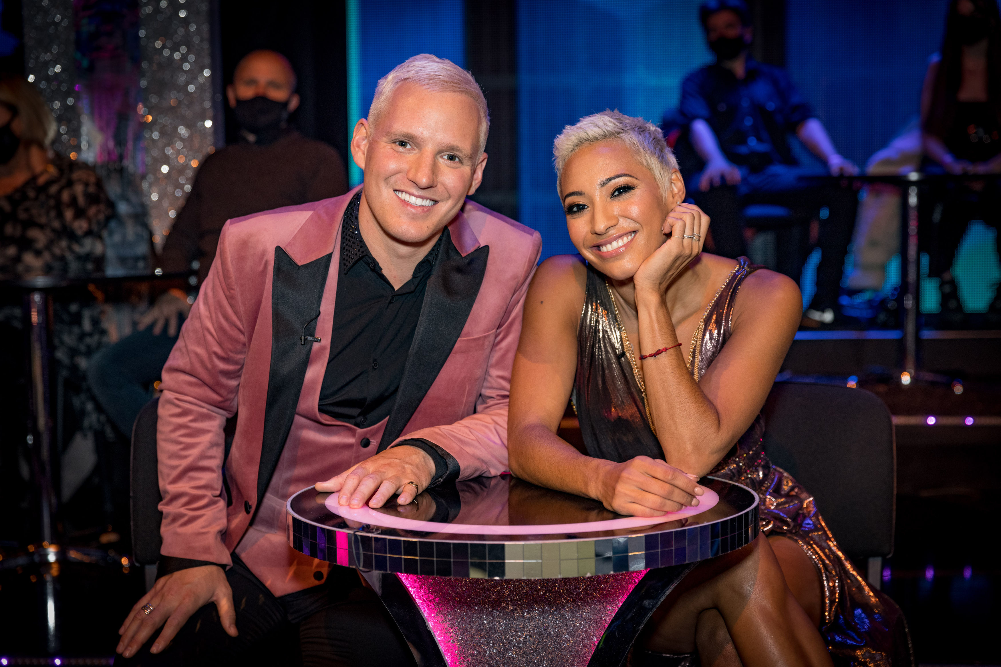 Strictly fans in hysterics as they claim Jamie Laing and Karen Hauer were partnered up because of their matching hairdos