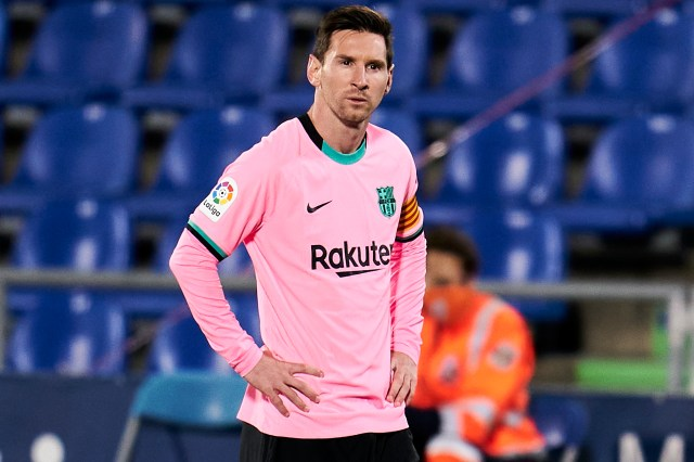 Messi was part of the Barcelona side that lost to Getafe on Saturday