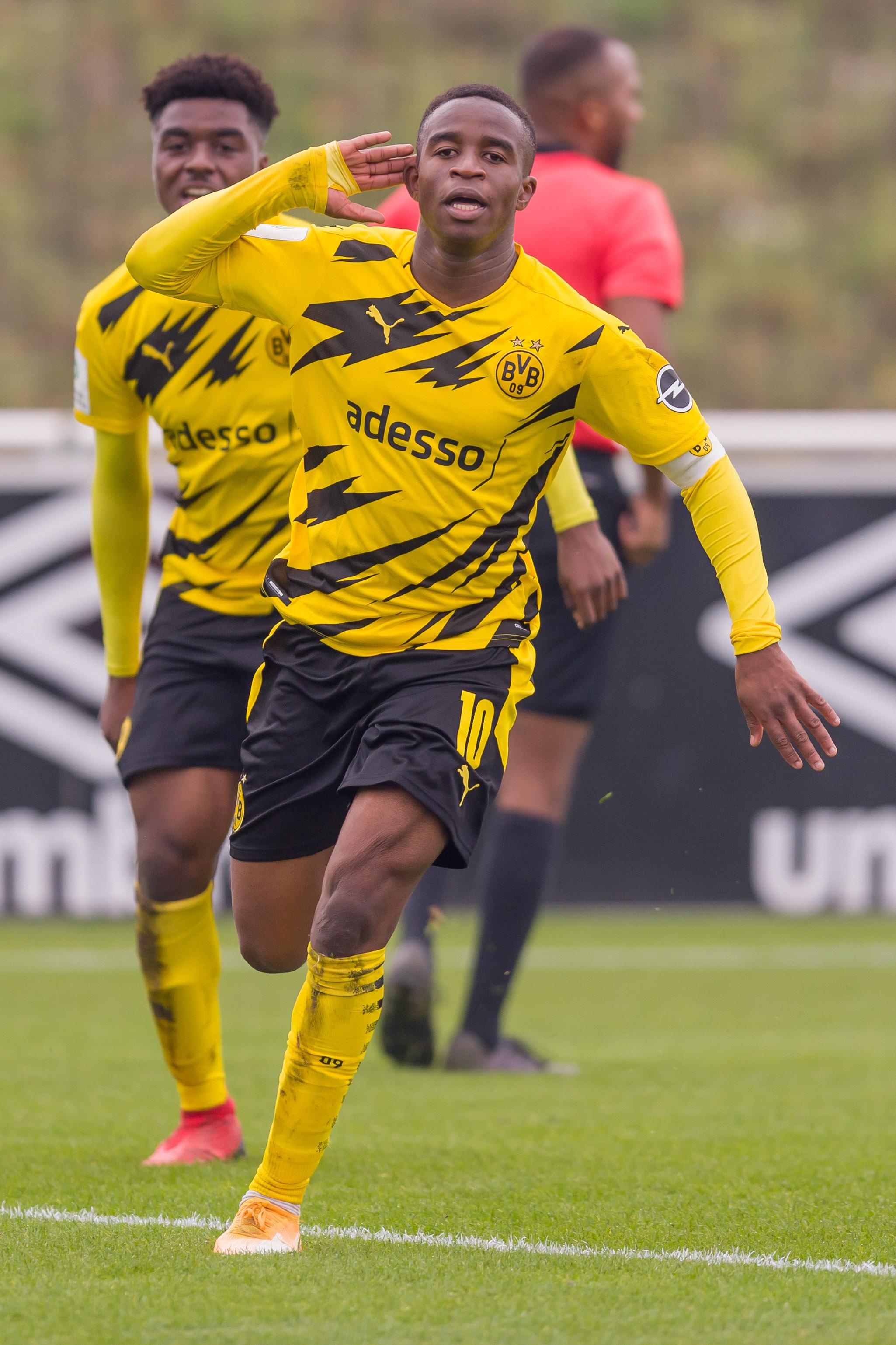 Youssoufa Moukoko, 15, targeted by vile racists after scoring hat-trick for Borussia Dortmund U19s in derby vs Schalke