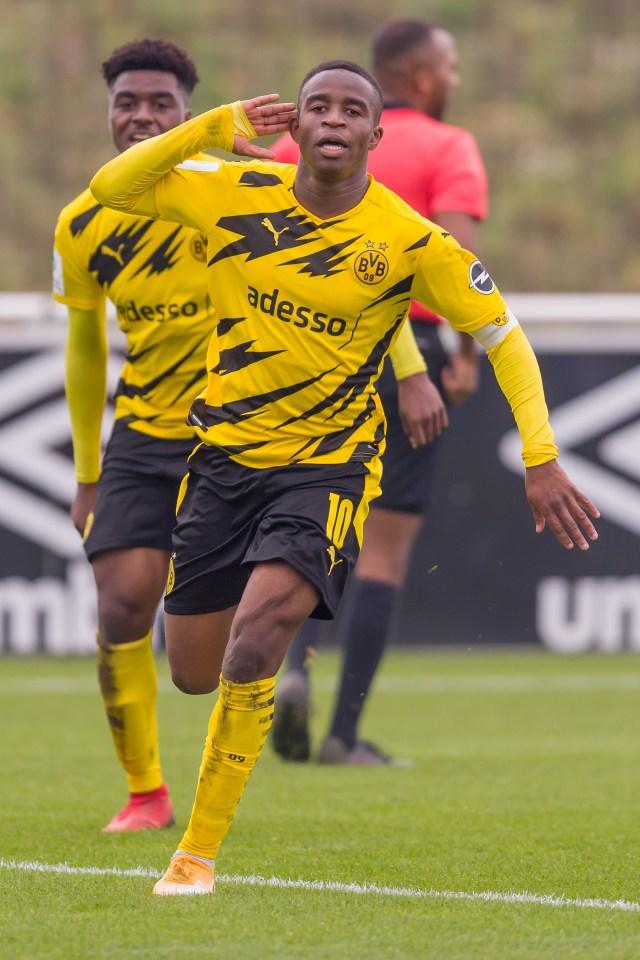 Moukoko was subjected to sickening racist abuse in Dortmund's 3-2 win over rivals Schalke
