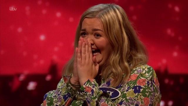 Katie screamed with excitement