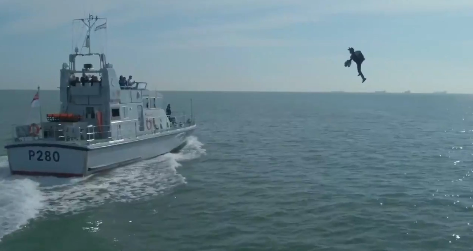 Royal Navy using flying Iron Man-style jet suits to practice storming enemy ships