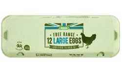 This pack of 12 large eggs from Asda is also impacted depending on the batch code and best before date