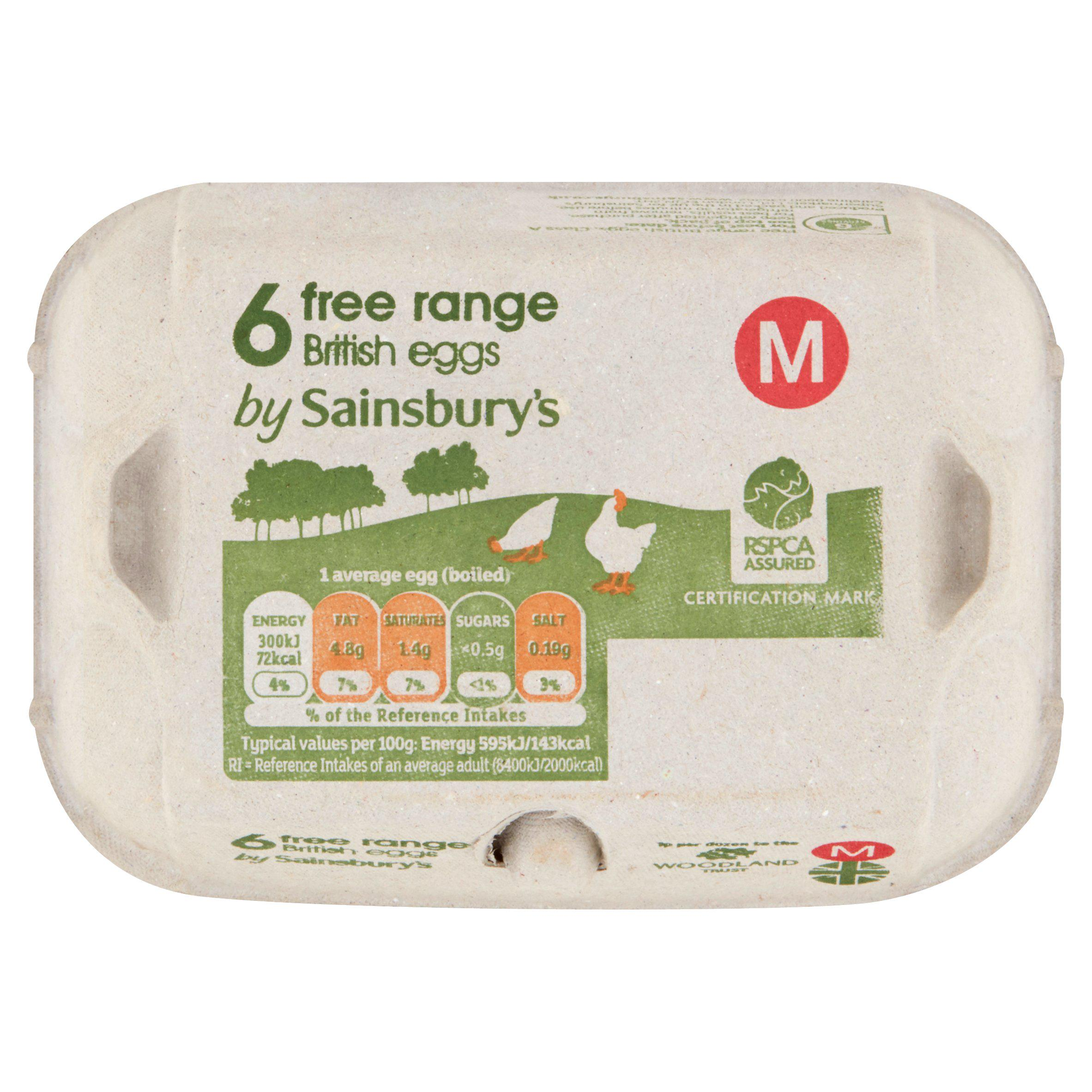 A salmonella warning has been issued over a certain batch of eggs, including this packet here sold at Sainsbury's
