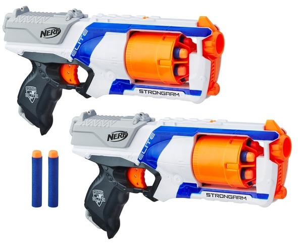 This Nerf set comes with two blasters and 12 darts