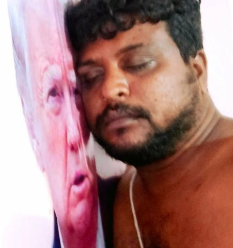 Bussa Krishna regularly shared pictures of himself with Trump