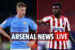 11.30am Arsenal news LIVE: Partey preparing for debut, De Bruyne OUT vs City, Tierney UPDATE, Saliba transfer