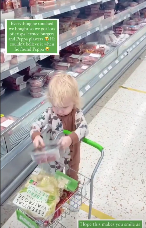 Stacey let Rex fill up the trolley and bought everything
