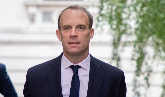 Dominic Raab yesterday tore into Russia's campaign to discredit the Oxford coronavirus vaccine