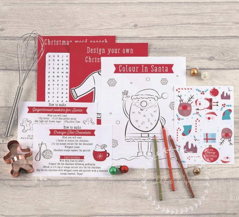 This Christmas Eve activity set could be a could substitute for a box