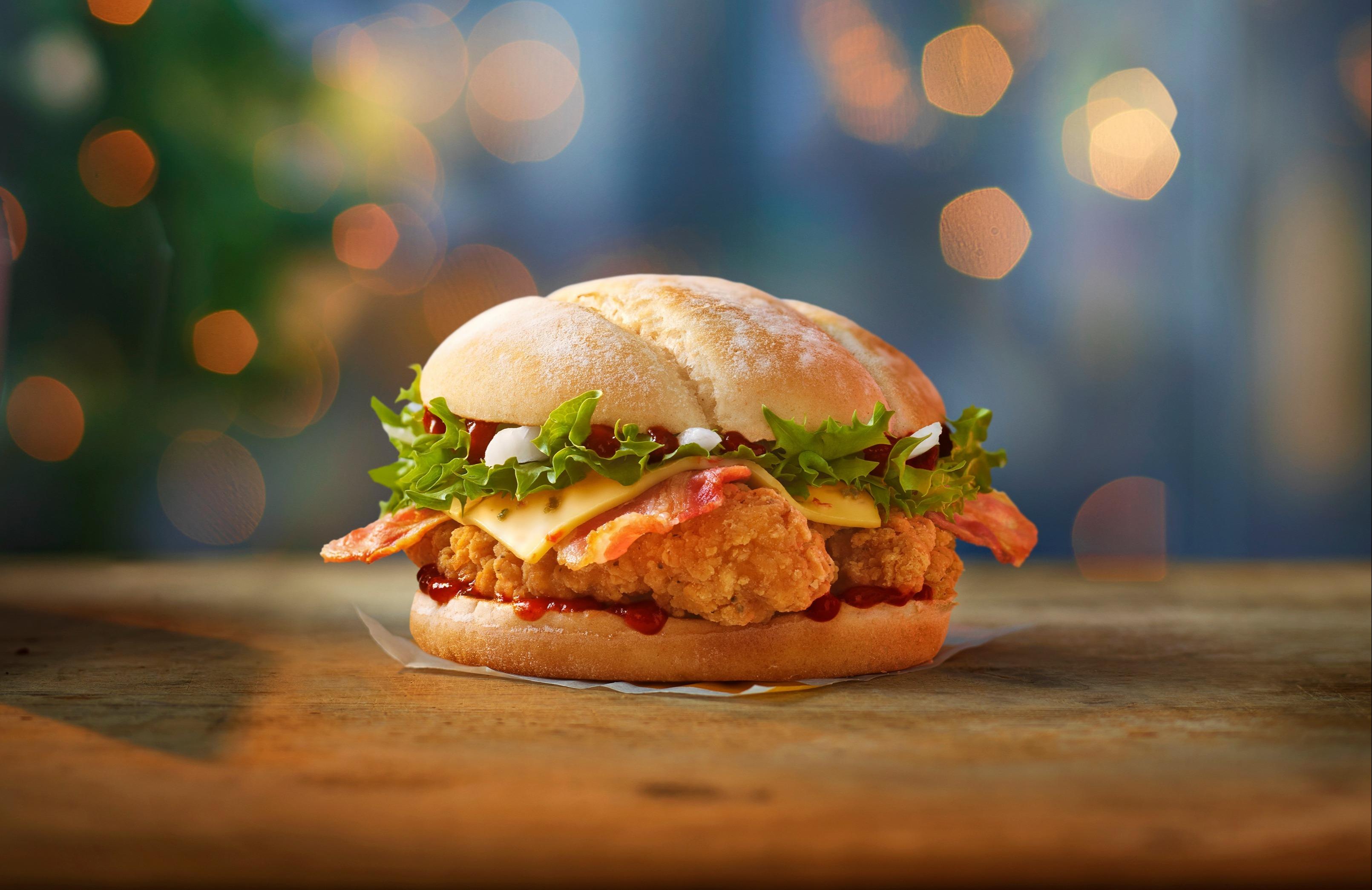 The new Jamaican jerk chicken sandwich features a spicy kick