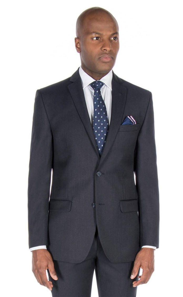 Look stylish with this J by Jasper Conran textured wool-blend suit jacket
