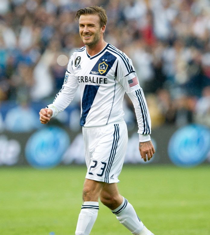 David Beckham signed a £25million deal to join MLS side LA Galaxy