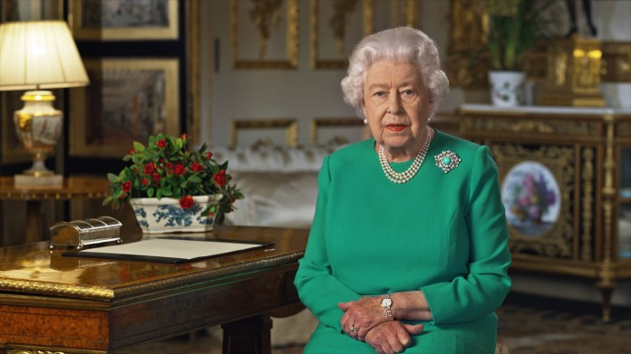 A source said 'the Queen delivered her speech to the nation and he just didn't want to worry people'
