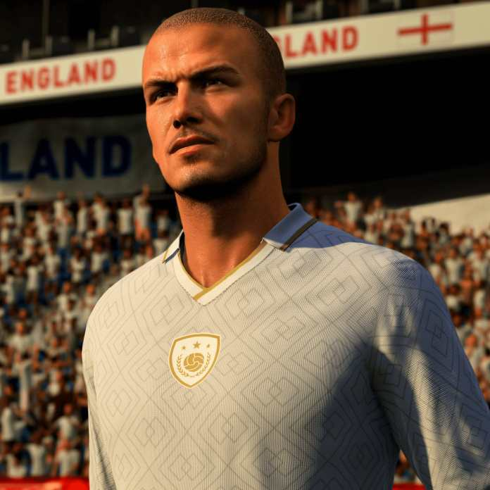 David Beckham will now appear as an 'icon' on the FIFA series