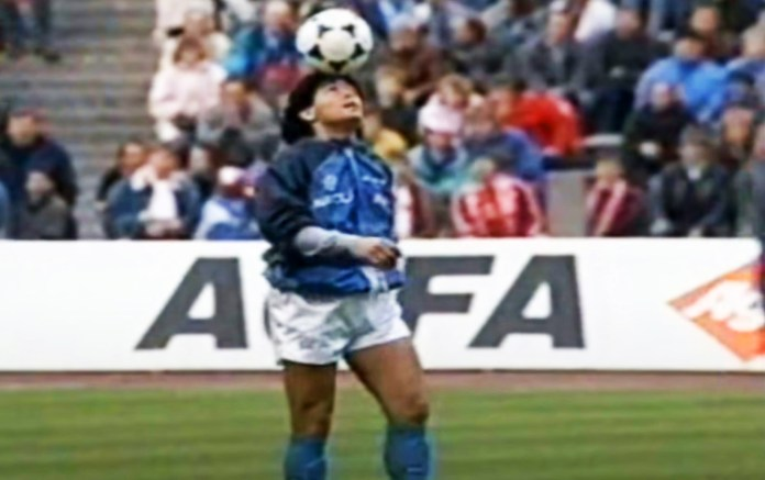 Watch Diego Maradona's incredible pre-match ball-juggling routine following  legend's death from heart attack aged 60