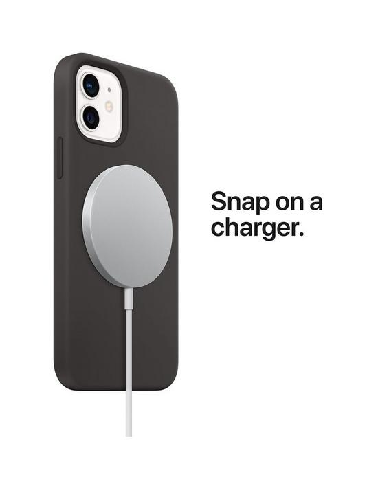 The snap-on MagSafe charger even works with approved cases