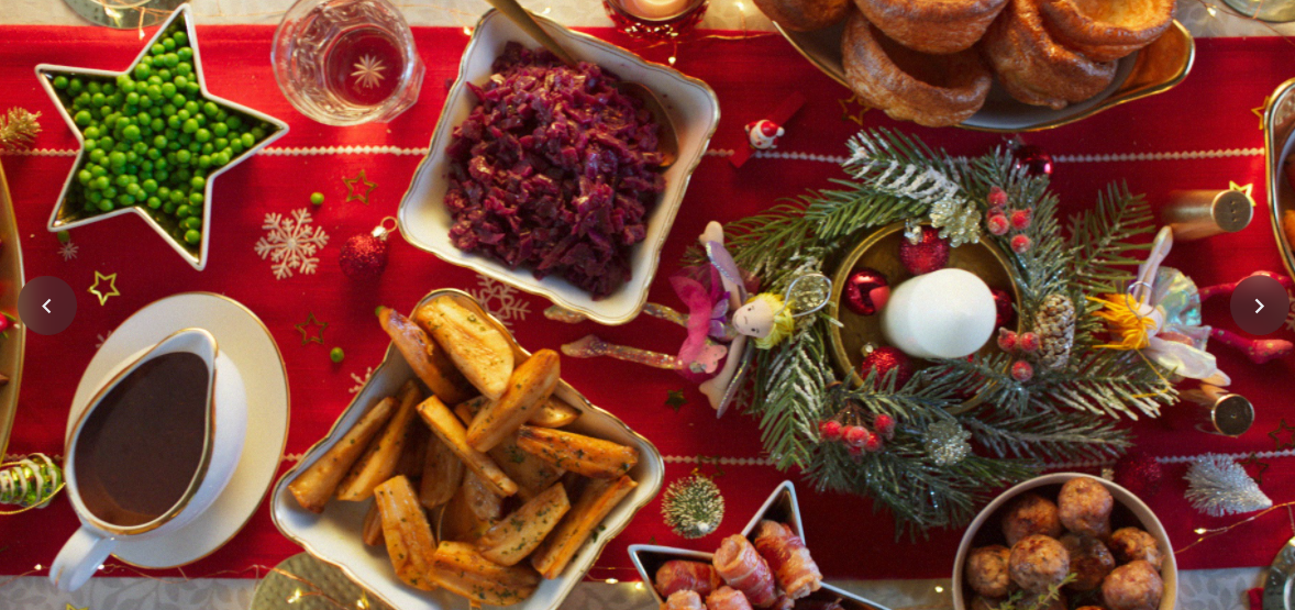 The camera then shows Lidl's festive food as the discounter boasts about its prices