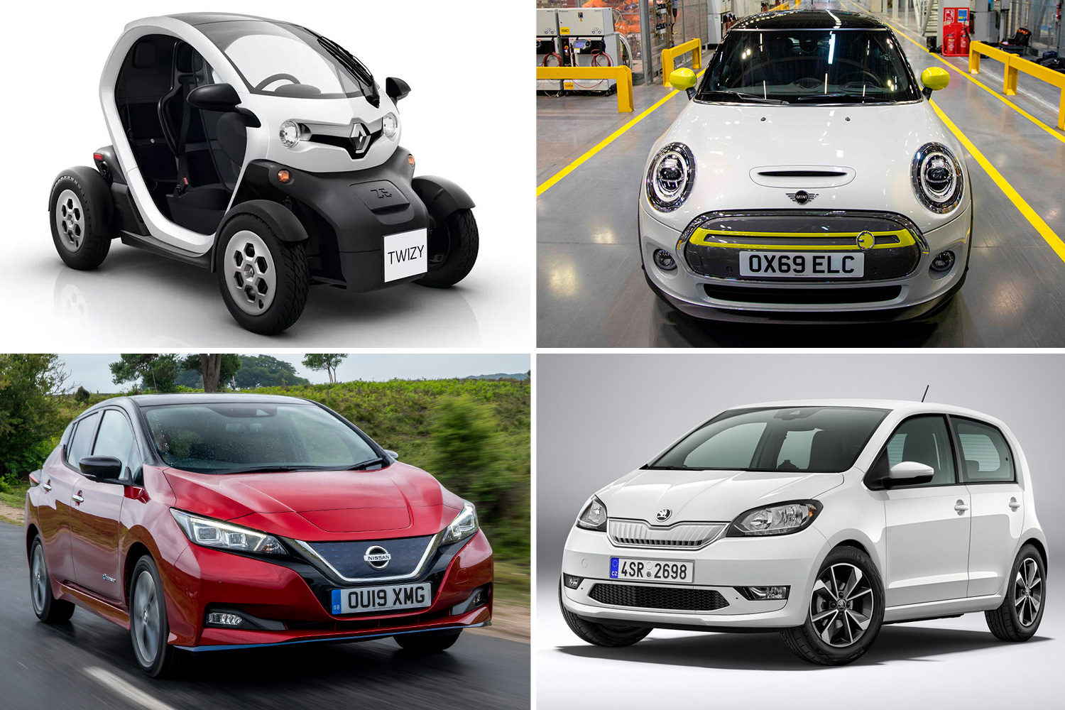 We round up some of the cheapest electric vehicles on sale in the UK