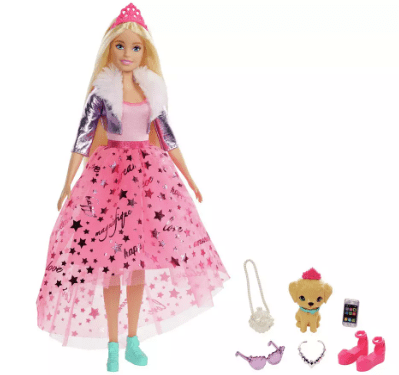 Feel like a real princess with this Barbie doll