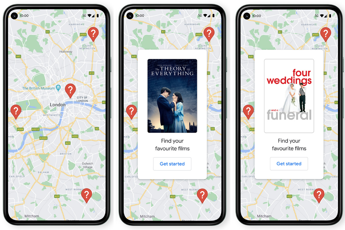 A new virtual 'treasure hunt' lets you discover and download films around the UK on Google Maps