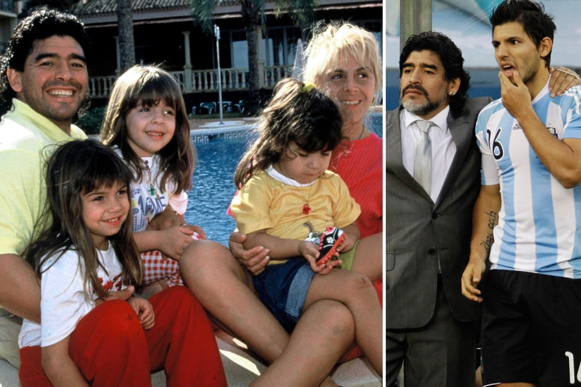 Diego Maradona's turbulent family life from eventually accepting love child  after 20 years to row with son-in-law Aguero