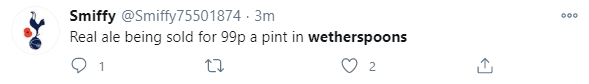 Fans shared the news of the cheap pints on offer