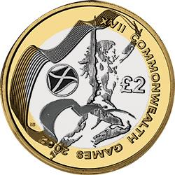 Scotland comes next in terms of rarest £2 coins