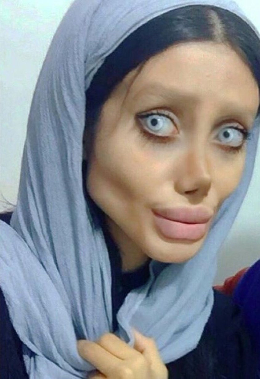 Iran's 'Zombie Angelina Jolie' lookalike is jailed for 10 years after  sharing creepy pictures online