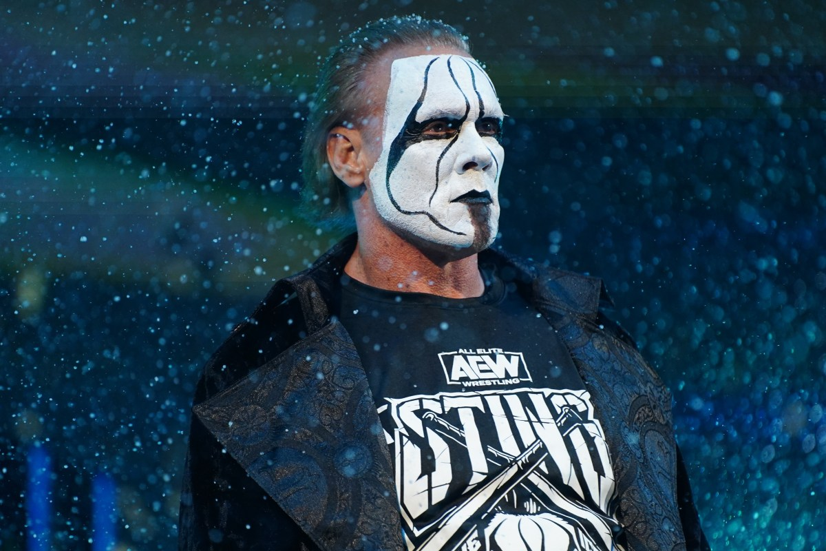 Watch icon Sting make shock AEW debut, aged 61, at Winter Is Coming special