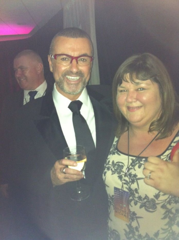 Cheryl with the late George Michael