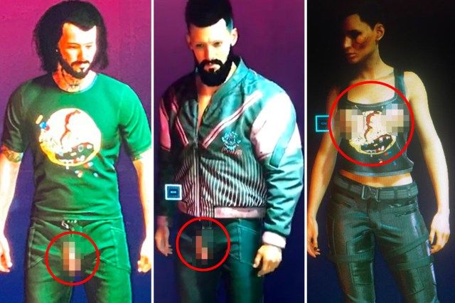Hilarious Cyberpunk 2077 glitch causes characters' penises and breasts to  poke through clothes