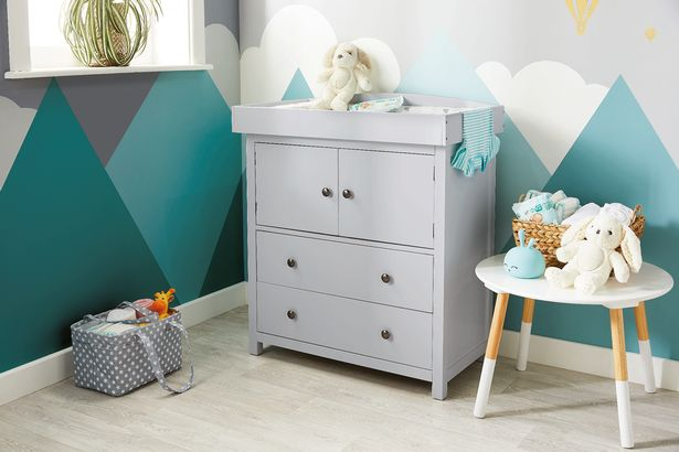 Baby clothes can be kept neat and tidy in this wardrobe