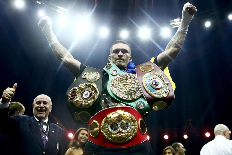 Usyk is the WBO heavyweight title mandatory challenger