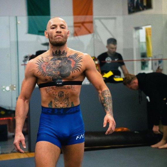 Conor McGregor pictured ahead of his UFC return